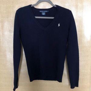 Ralph Lauren Sport  Merino Wool Navy Sweater